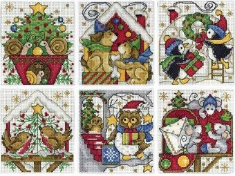 home for christmas ornaments cross stitch kit - Cross Stitch Christmas Decorations