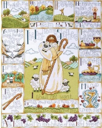 23rd Psalm - Cross Stitch Kit