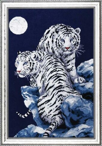 Moonlit Tigers - Cross Stitch Kit