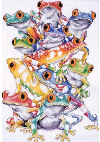 Frog Pile - Cross Stitch Kit