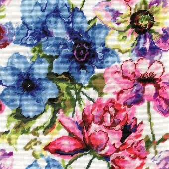 Watercolor Floral - Needlepoint Kit