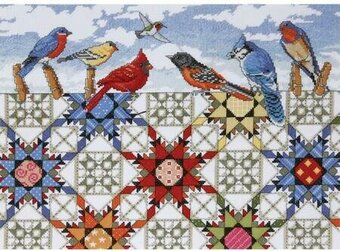 Feathered Stars - Cross Stitch Kit