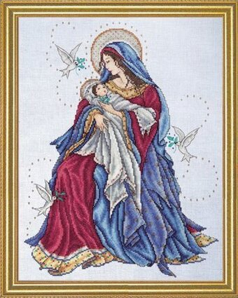 Madonna and Child (Virgin Mary) - Cross Stitch Kit