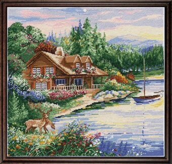 Lakeside Cabin - Counted Cross Stitch Kit