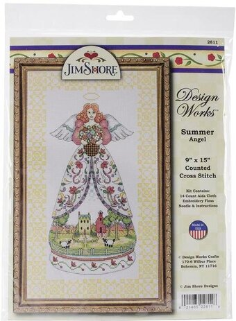 Jim Shore Summer Angel - Cross Stitch Kit