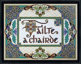 Welcome Friends (Failte a chairde) - Cross Stitch Kit