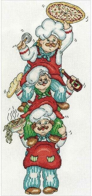 Pizza Delivery - Cross Stitch Kit