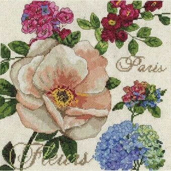 Paris Fleurs - Cross Stitch Kit