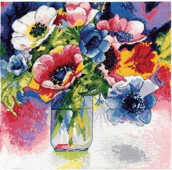 Anemonies - Cross Stitch Kit