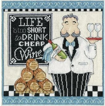 Cheap Wine - Cross Stitch Kit