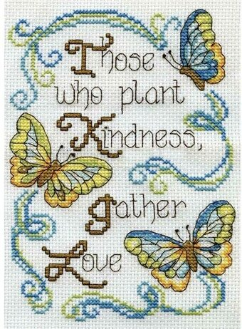 Butterfly Kindness - Cross Stitch Kit