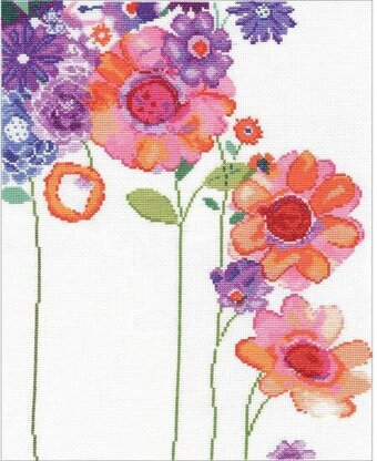 Watercolor Garden - Cross Stitch Kit