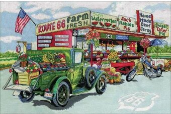 Route 66 Farmstand - Cross Stitch Kit