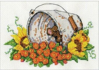 Bucket Mouse - Cross Stitch Kit