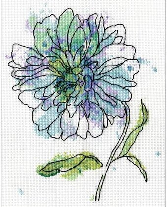 Blue Floral - Cross Stitch Kit