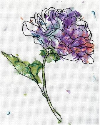 Lilac Floral - Cross Stitch Kit