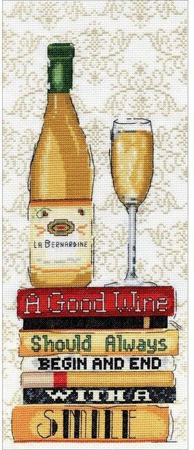 White Wine - Cross Stitch Kit
