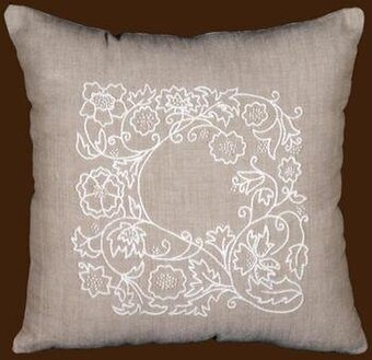 Romance Vine Pillow Cover - Candlewicking Embroidery Kit