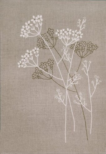 Queen Anne's Lace - Candlewicking Embroidery Kit
