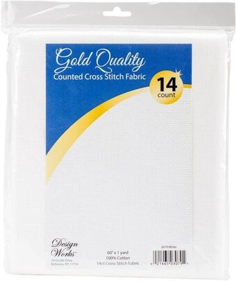 14 Count White Aida Fabric 60x36