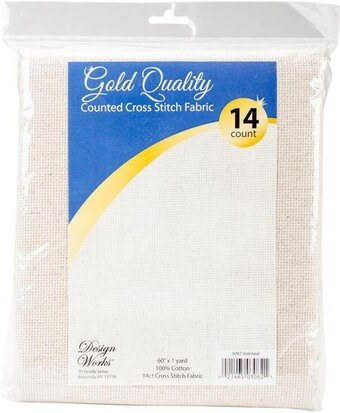 14 Count Oatmeal Aida Fabric 60x36