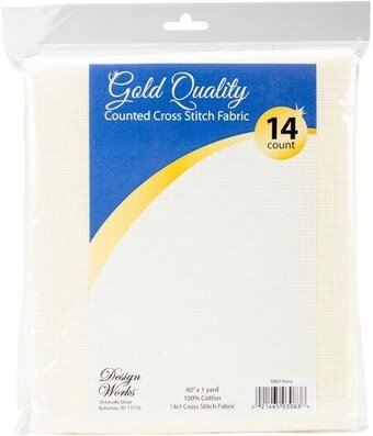 14 Count Ivory Aida Fabric 60x36