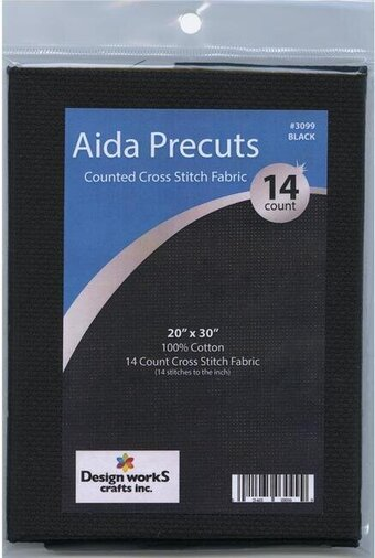 14 Count Black Aida Fabric - 20 x 30 inches