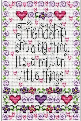 Friendship - Cross Stitch Kit