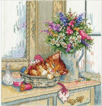 Cat Nap - Cross Stitch Kit