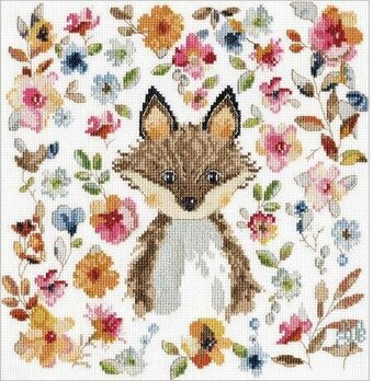 Design Works Crafts Counted Cross Stitch Woodland Baby Sampler 12 by 13 inches
