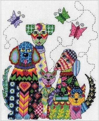 Patchwork Dogs - Cross Stitch Kit