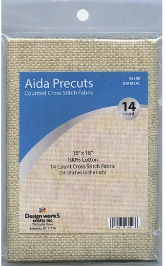 14 Count Oatmeal Aida Fabric - 15 x 18 inches