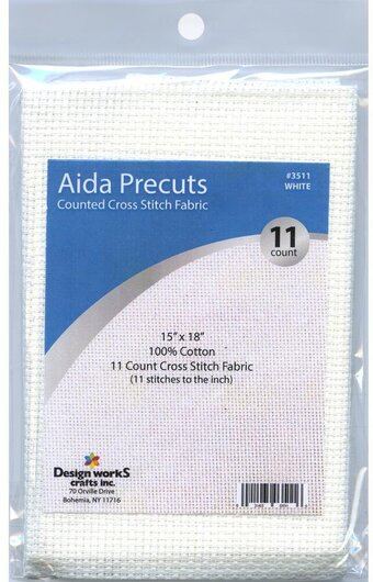11 Count White Aida Fabric - 15 x 18 inches
