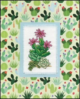 Cactus Stitch and Mat - Cross Stitch Kit