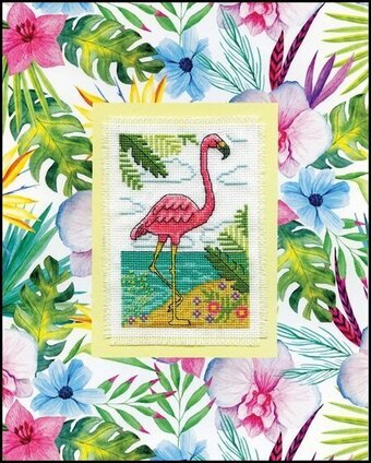 Flamingo Stitch and Mat - Cross Stitch Kit
