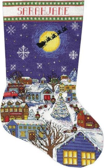 Christmas Eve Christmas Stocking - Cross Stitch Kit