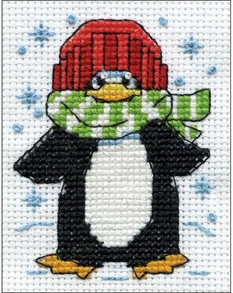 Penguin - Christmas Cross Stitch Kit