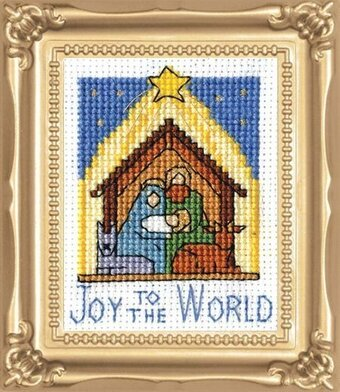 Nativity with Frame - Christmas Cross Stitch Kit