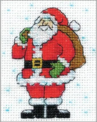 Standing Santa - Christmas Cross Stitch Kit