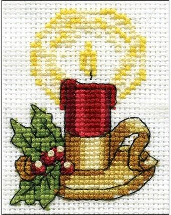 Candle - Christmas Cross Stitch Kit