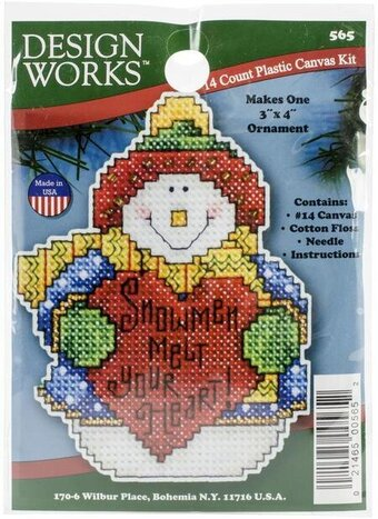 Snowman Christmas Ornament - Plastic Canvas Kit