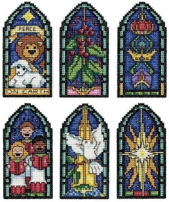 Peace on Earth Christmas Ornaments - Cross Stitch Kit