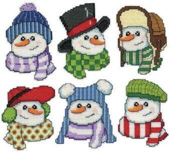 Dimensions Warm Hearts Plastic Canvas Ornament Counted Cross Kit