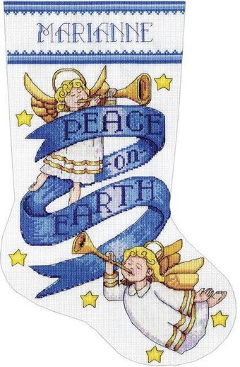 Peace on Earth Christmas Stocking - Cross Stitch Kit