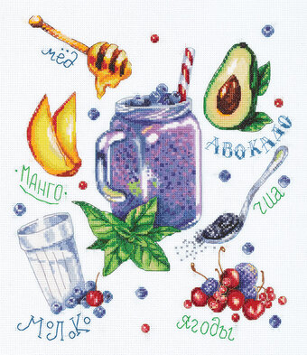 Russian Berry Smoothie - Cross Stitch Kit