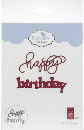 Happy Birthday - Elizabeth Craft Designs Die