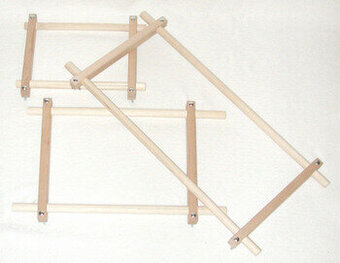 Split Rail Scroll Frame Set