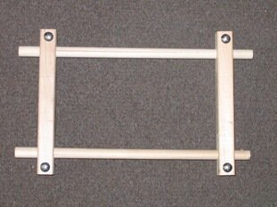 "Split Rail Scroll Frame - 4.5"" x 9"""