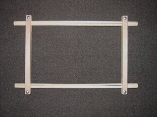 "Split Rail Scroll Frame - 8.5"" x 24"""