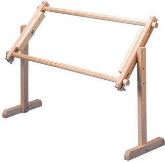 Adjustable Lap and Table Stand with Split Rail Scroll Frame